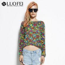high quality fashion designer women melange long sleeves sweater blouse for fall