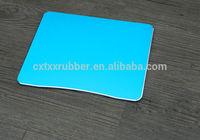 blue aluminum bright edge color non fading durable mouse pad