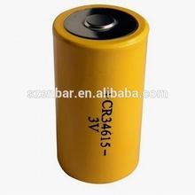 3 volt Size D 12Ah high power Lithium battery CR34615