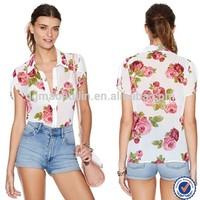 top bangkok clothes wholesale printed blouse for women bangkok