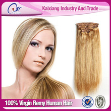 Large stock long lasting 18 20 22 inch clip in human hair extensions