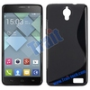 High quality Simple Soft S Shape Design Gel TPU Case for Alcatel One Touch Idol X 6040 6040A 6040D 6040E (Black)
