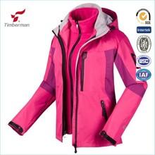 3 in 1 Jackets Girl's Waterproof Coats Outdoor Sportswear