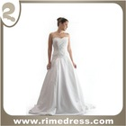 Ball Gown Strapless Chapel Length Train Lace and Satin Wedding Dress/Bridal Gown-RBL00272
