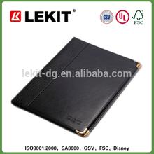 A4 Leather portfolio folders with metal corners