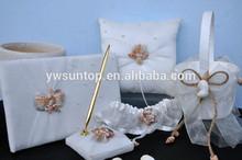 Ocean Theme guest book /pen holder/ring pillow/flower basket set wedding table decoration