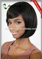 2014 baixo preço 10 polegadas estilo bob de cabelo remy indiano peruca natural em linha reta máquina feita