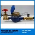 Medidor de água de bronze válvula de porta