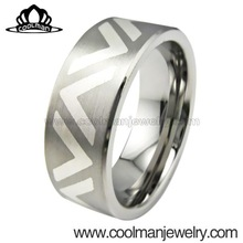 valuable with laser engrave comfort fit stainless steel or titanium rings