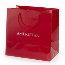 Glossy laminated paper bags for shopping promotion