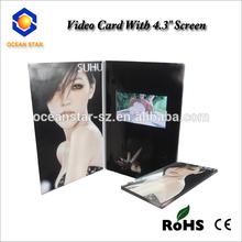 2014 newest invitation video brochure/ lcd video greeting card /games for video card 256 mb video brochure