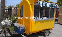 Electric bike food cart mobile fast food car fast food car for sale