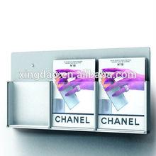 Grey aluminum wall mount a4 brochure holder