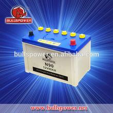 JIS standard dry charged car battery 12v 90ah in Dubai