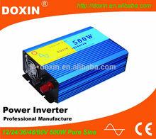power inverter 500w 12v 220v convert modified sine wave pure sine wave