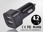 2014 new multi usb car portable navigation in car charger for samsung s2 s3 s4 note2 II