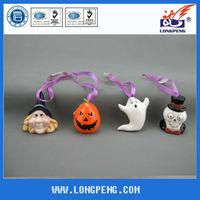 Ceramic Pumpkin Hanging Decoration, Halloween EVA Ghost,Skeleton,Witches Design
