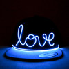 Newest! LOVE EL Wire Flash Glow Light Up Snapback Hats Caps
