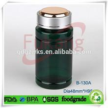 130cc Metal Cap Green Double Lid Round PET medical Bottle