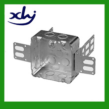 Electrical metal switch box with conduit knockout