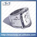 personalizado 3d de aleación de zinc esmalte grabado las mujeres los hombres campeonato nacional de anillo