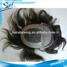 Natural hair toupees,indian men hair toupee wig