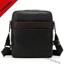 Embossed leather natural texture man bag / OEM factory man laptop bag