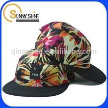 sunny shine cotton floral beach hat custom flat bill 5 panel cap
