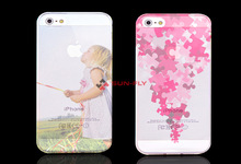 Sublimation polyglass phone case for Iphone 4/4s/5/5c/5s//sublimation tranparent phone case