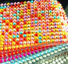 SGS Gem/Crystal/Rhinestone car/bus body sticker design,rainbow color