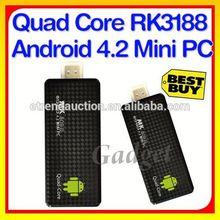 Android 4.2 Mini PC MK809III Quad Core Android TV Dongle Freescale i.mx6 1.2Ghz Quad Core
