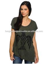 custom atacado moda camisas de impressão para as mulheres