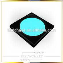cube shape Color Changing Round Flashing LED Coaster