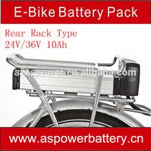 li-ion 36V 10Ah e- bike battery lithium ion electric bicycle battery