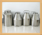 High quality stainless steel milk transporation bucket and milking cans for storage