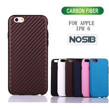 Carbon fiber mobile phone tpu case for iph6 wholesale price