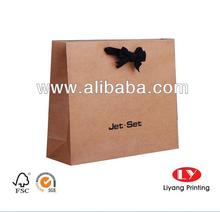 cheap brown kraft paper bag with logo print