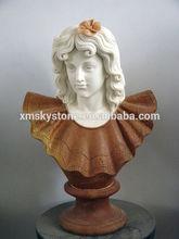 Sky-d030 sculpté romaine Femal et masculine marbre bustes à vendre