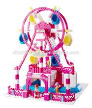 2014 NEW HOT SALE Wonderland plastic building blocks,Ferris Wheel blocks, kids education MUSICAL toys,DIY toy