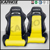 PVC seats,racing car seats,auto sports seats black and yellow pair