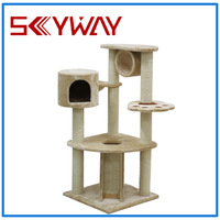 luxury indoor cat tree house