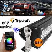 "New 50"" 288W waterProof curved driving light bar 4x4 racing off road led light bar"