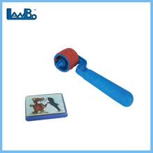kids plastic rolling rubber stamp