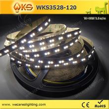 smd strip 3528 120w/ww leds long life time led strip light led strip waterproof