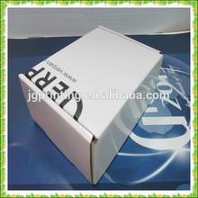e-flute white folding corrugated packing box,rigid packaging box make in guangzhou china