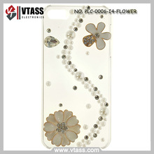 3D Crystals Sparkle Rhinestone light up phone case for iphone 4/4S (Flower decoration)