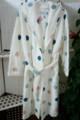 Adulto 100% mulheres poliéster imprimir dois tons/sherpa/aconchegar/veste coral do velo com cordão/fita/laço/pijamas para as mulheres