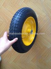 16 inch small pneumatic rubber wheel for garden carts/lawn mower/wheelbarrow