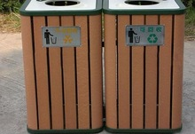 Nice Wood Plastic Composite Dustbin for Park Enviromental Protection