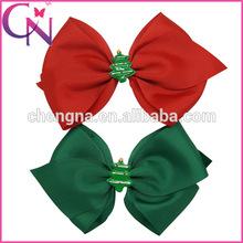 Kids Christmas Hair Bow Western Hair Bow With Metal Clip (CNHBW-1408226)